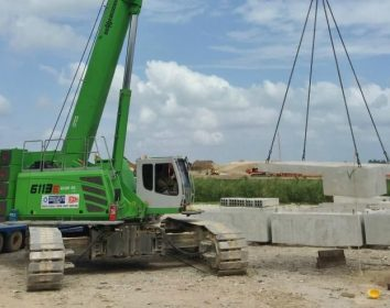 Sennebogen – Flexibler 120 t Raupentelekran im Einsatz