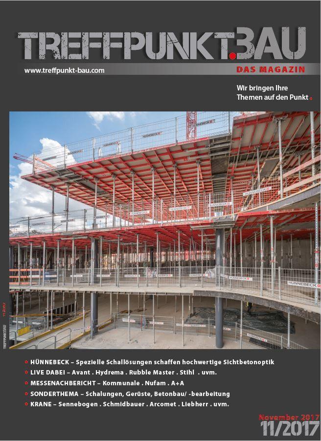 Treffpunkt.Bau 11_2017 Titelseite ohne Störer