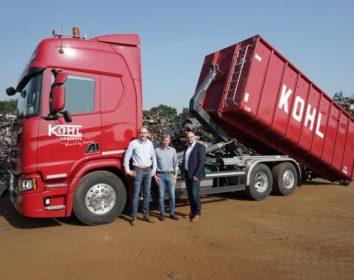 Portrait: Kohl Recycling und Meiller Abrollkipper RL18
