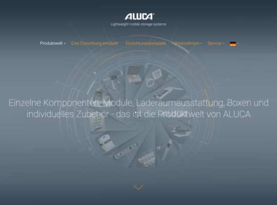 ALUCA_Produktwelt_Relaunch Website_Juli 2018