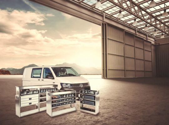 Aircraft hanger door open car stage 3D illustration