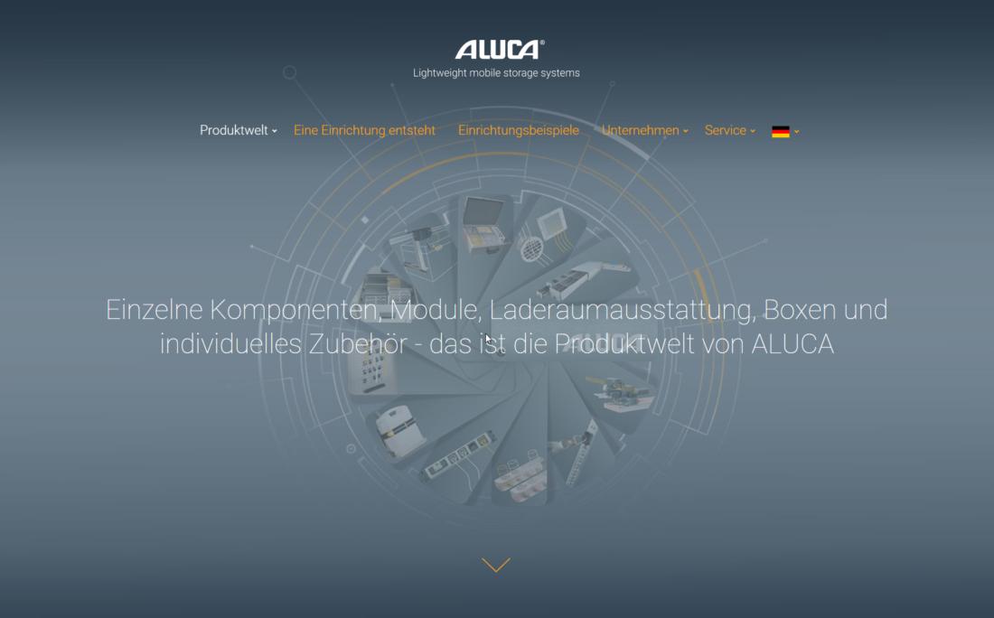 ALUCA_Produktwelt_Relaunch Website_Juli 2018