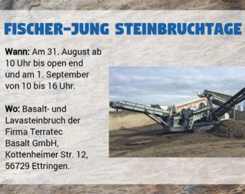Fischer-Jung Steinbruchtage (31.8. – 1.9.)