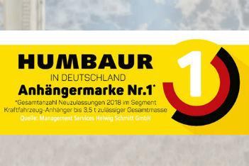 Humbaur: Anhängermarke Nr. 1 in Deutschland*