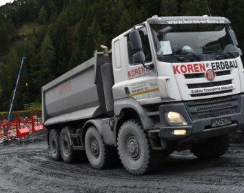 Tschann Nutzfahrzeuge – Tatra Lkw als Landschaftsbauer am Brenner Basistunnel