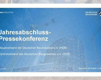 HDB – Bauwirtschaft blickt auf ein solides Jahr 2020: Umsatzwachstum um 5,5 % erwartet