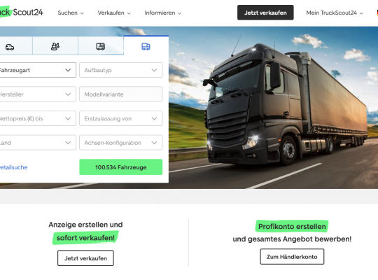 TruckScout24 Homepage