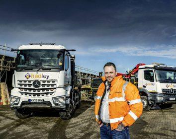 Daimler Truck – Gerüstspezialist Hadley schwört auf Mercedes-Benz Arocs