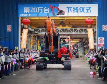 Doosan Infracore China Corporation übertrifft das kumulative Produktionsgesamtergebnis von 200.000 Baggern