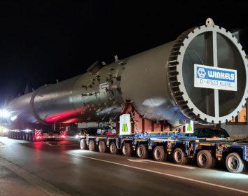 BigMove – BigMove-Partner Hegmann Transit fährt 80 m lange Stahlkolosse nach Beglien